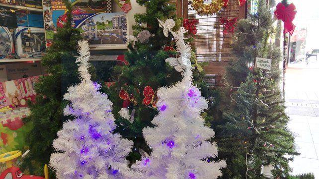 Las tucas en los pinos para la Navidad