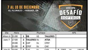 Comienza la XVIII Edición de la Copa Desafío de Sóftbol 2017