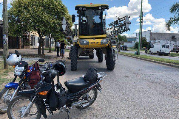En Gualeguaychú detuvieron a un vehículo fumigador que volcaba agrotóxicos en la ciudad