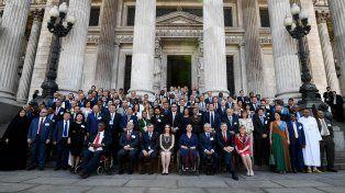 Los participantes de la Conferencia parlamentaria sobre la OMC