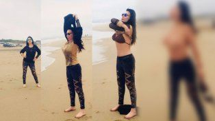 Moria Casán deslumbró con un toples en Mar del Plata