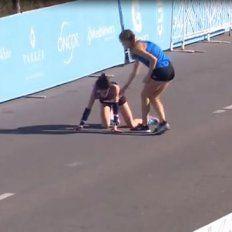 El heroico gesto durante una maratón que recorre el mundo