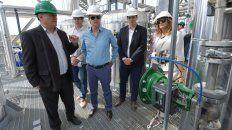 Visita. La presencia del gobernador sirve para conocer el desarrollo de empresas entrerrianas..