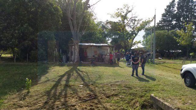 La casa del uniformado se encuentra a dos kilómetros del casco urbano de Villa Urquiza.