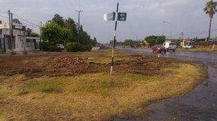 En la esquina debieron derribar la construcción que le dio identidad a esa zona de Paraná. Foto UNO Pablo Felizia.