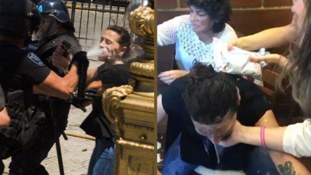 Video: así atendieron a la diputada Mayra Mendoza tras recibir una descarga de gas pimienta