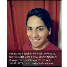 Buscan a un joven de 24 años que se ausentó de su hogar