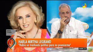 Mirtha Legrand cruzó al Gobierno por la reforma previsional: Van a tener que deshacerla