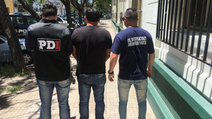 A Paraná. El hombre de Rosario fue detenido el martes y trasladado hasta la capital entrerriana.