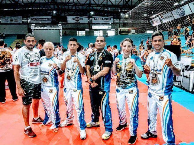 Gualeya se destaca en el kick boxing internacional