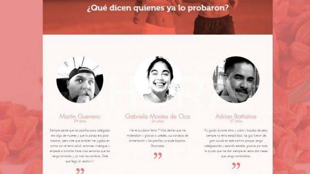 Usaron la foto de Micaela García para vender pastillas para adelgazar