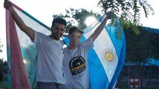 Foto: Marcelo Morelli. Kappes y su entrenador.