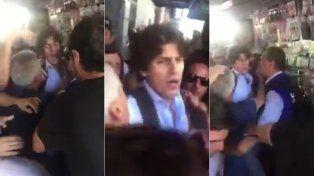 Video: Martín Lousteau agredido en la calle en una manifestación del gremio bancario