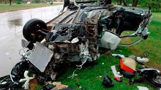 Brutal choque en la 168: el conductor se salvó de milagro