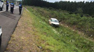 Murió una nena de 12 años y hay dos heridos tras un vuelco en la Autovía Artigas