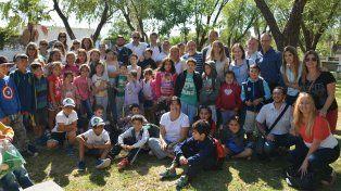 Iniciativa. Un numeroso grupo de niños ya disfruta de las actividades que impulsan el Centro de Salud y otras instituciones.