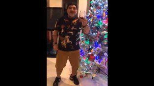 El especial saludo de Diego para Navidad