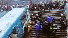 cinco muertos tras ser atropellados por un colectivo