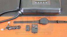 presentaron el sistema de control de prision domiciliaria a traves de tobilleras electronicas
