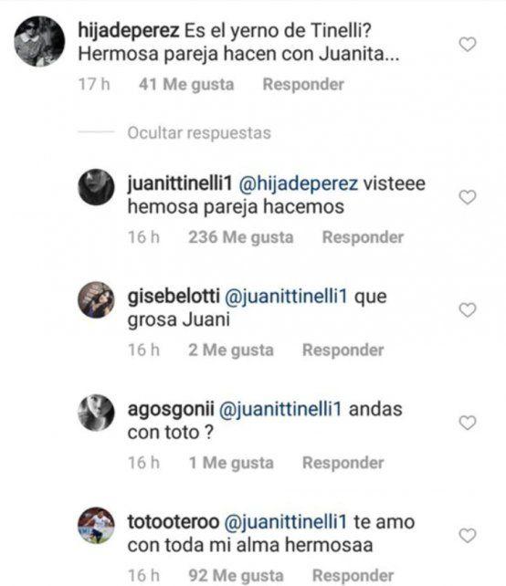 Juanita Tinelli confirmó su romance con el hijo mayor de Florencia Peña