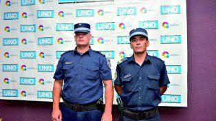 Los policías que fueron parteros en plena ruta