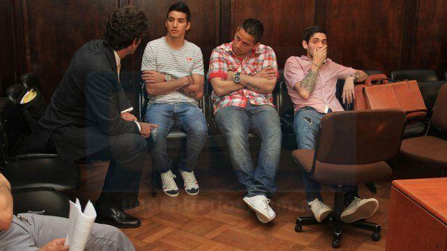 Juicio abreviado. Iván Villalba (primero a la izquierda)