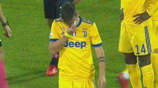 Dybala se lesionó y salió llorando