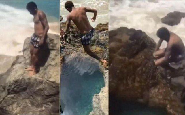 El insólito salto de Neymar que provocó pánico en Brasil