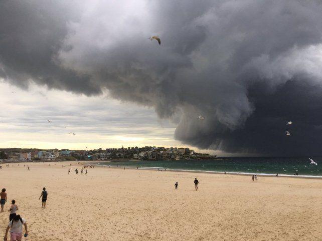 Postales de una terrible tormenta en Sidney