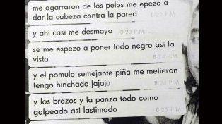 Caso Pastorizzo: Se conocieron contenidos de chats y audio que describe la violencia que padecía la víctima