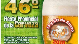 A pura espuma: Se viene la 46° Fiesta Provincial de la Cerveza en Crespo