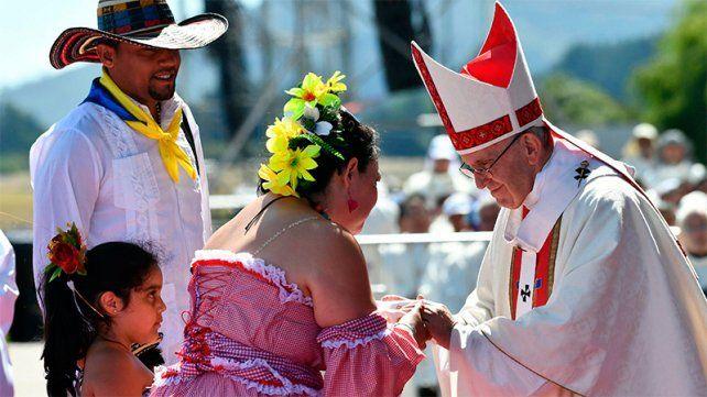 El Papa, en tierra mapuche: La violencia vuelve mentirosa la causa más justa