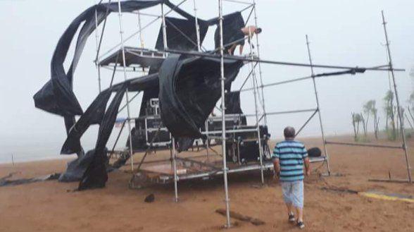 El mal tiempo obligó a suspender la inauguración de la Fiesta de la Playa