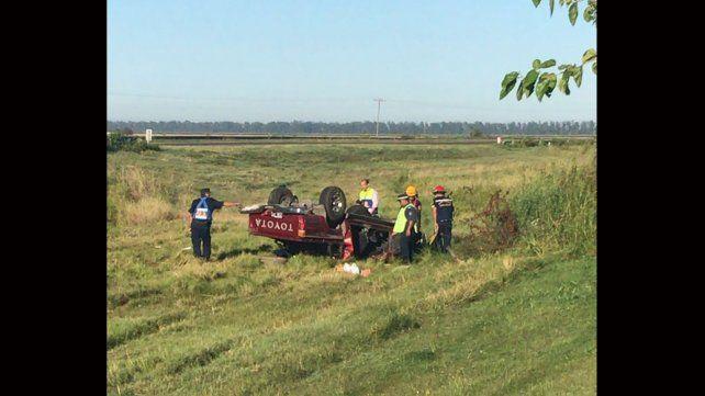 Una mujer de Paraná falleció en un vuelco en ruta provincial 11