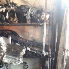 Taller muy afectado. Por la explosión e incendio hubo destrucción interna.