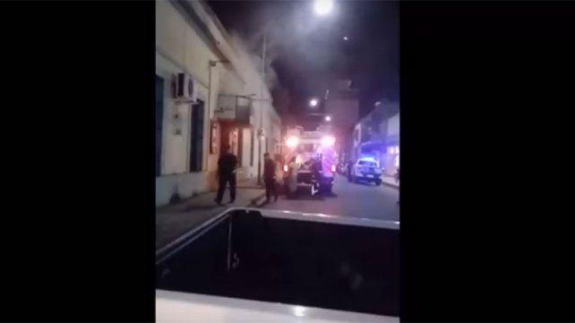 Se incendió parte de la Casa de la Cultura de Concepción del Uruguay