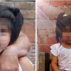 Shoqueada. La nena fue encontrada muy asustada en la zona de Parque Industrial de Paraná.