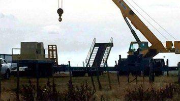 En marcha. Los diarios uruguayos publicaron fotos del obrados en la zona de Salto.