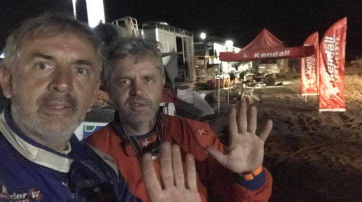 Cumplieron. Naivirt junto a su copiloto Alejandro Schilling.