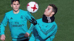 El rostro de Cristiano Ronaldo tras el golpe ante Deportivo La Coruña