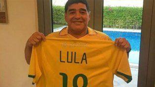 Maradona apoyó a Lula y celebró el encuentro entre Putin y Maduro
