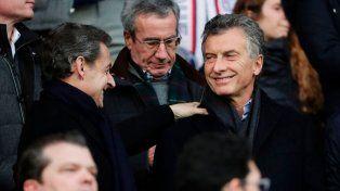 Macri fue a la cancha con Sarkozy a ver a Di María