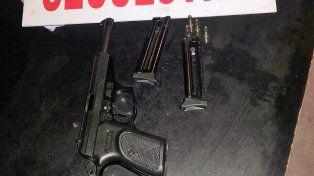 La pistola que secuestró la policía de Entre Ríos. Foto PER.