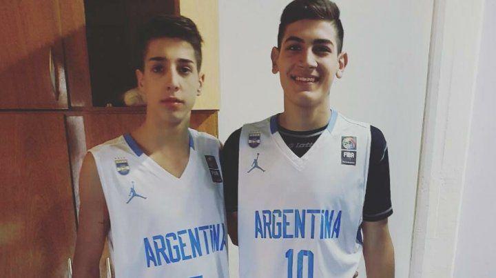 Mateo Díaz la está rompiendo con la Selección Argentina de básquet