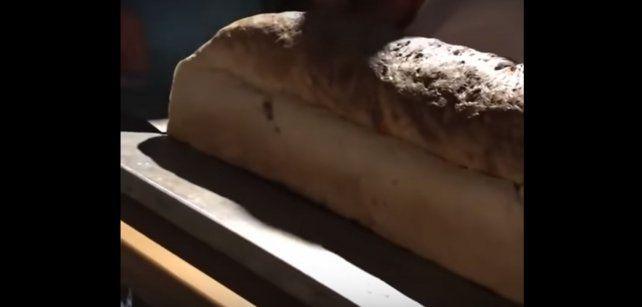 Video | Así salía el pan casero gigante en Sauce de Luna