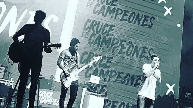 Rabeat en el teatro Gran Rex de Buenos Aires.