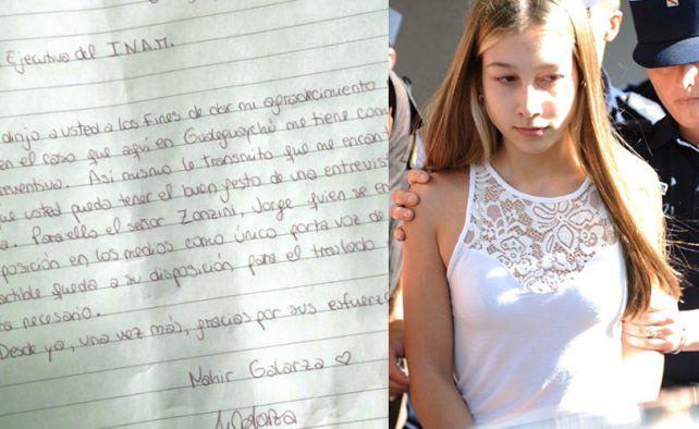 Nahir le escribió una carta a la Directora del Instituto de la Mujer para pedir su intervención