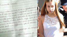 nahir le escribio una carta a la directora del instituto de la mujer para pedir su intervencion