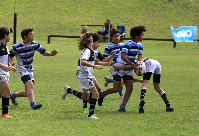 Rugby infantil en el Plumazo. Foto Archivo <b> UNO</b>. Diego Arias.