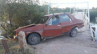 Perdió el control del vehículo cuando cruzaba el puente de La Picada